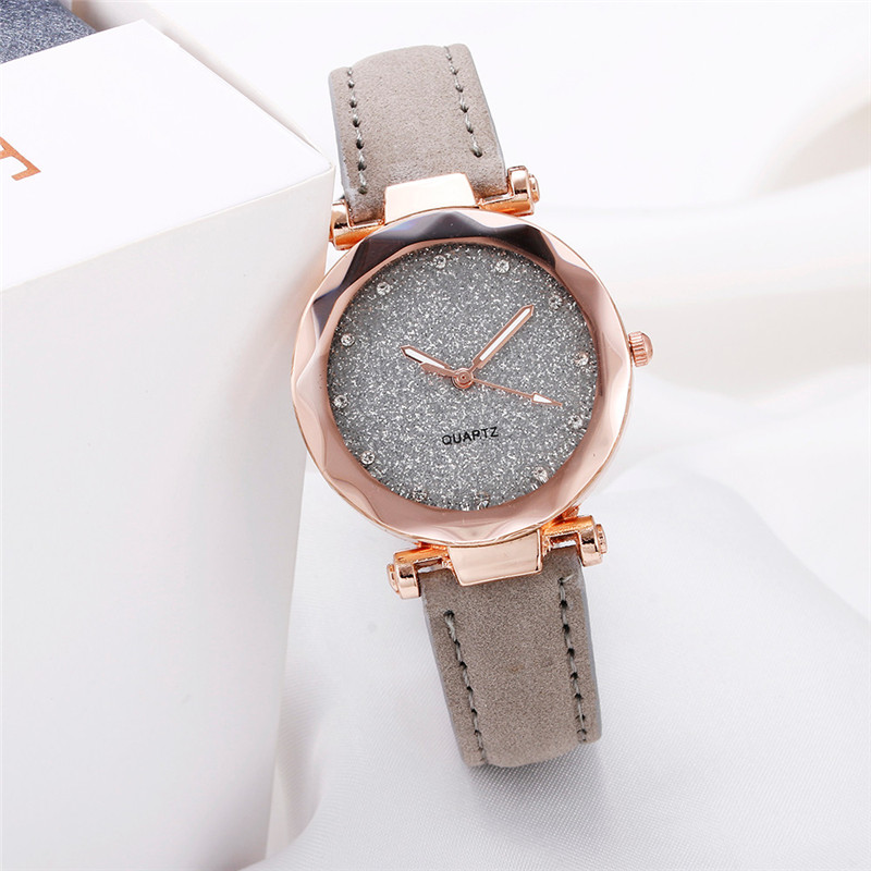 wrist watch for women grey color