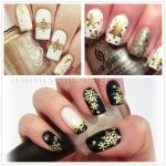 1 BOX Hollow Out Gold Nail Glitter Sequins Snow Flakes Mixed Design Decorations for Nail Arts Pillette Nail Accessories LA889-1 5