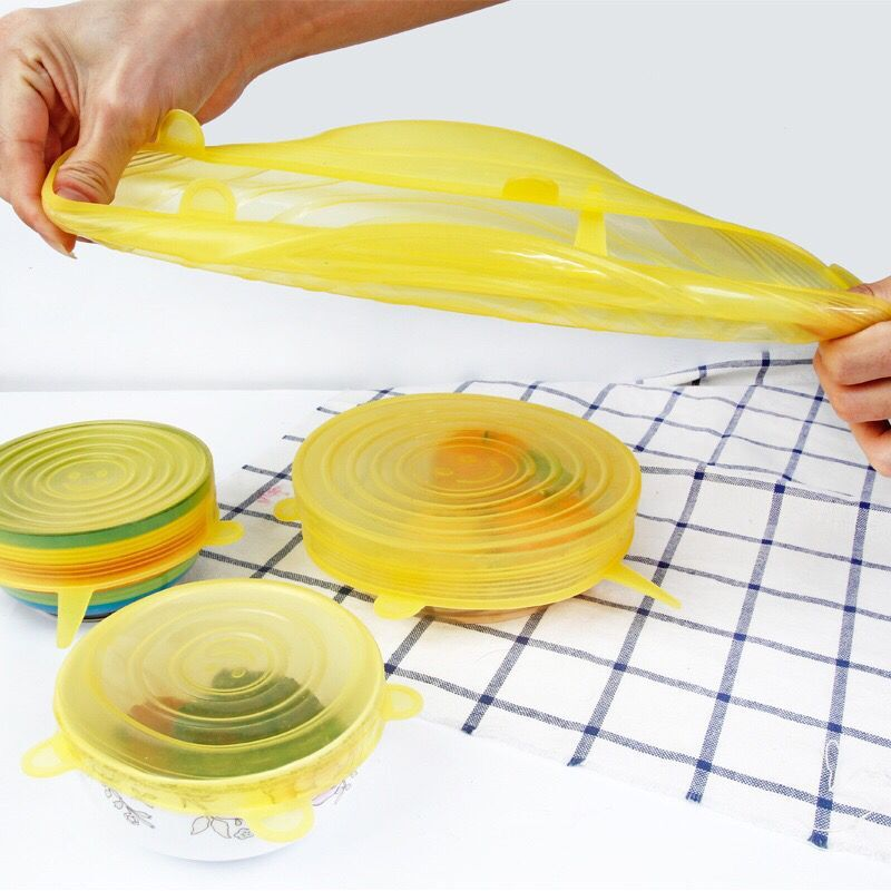 stretchable silicone lids