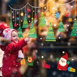 2020 Merry Christmas Wall Stickers Window Glass Festival Wall Decals Santa Murals New Year Christmas Decorations for Home Decor 3