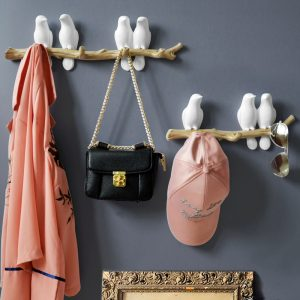 Wall Decorations Home Accessories Living Room Hanger Resin Bird hanger key kitchen Coat Clothes Towel Hooks Hat Handbag Holder 1