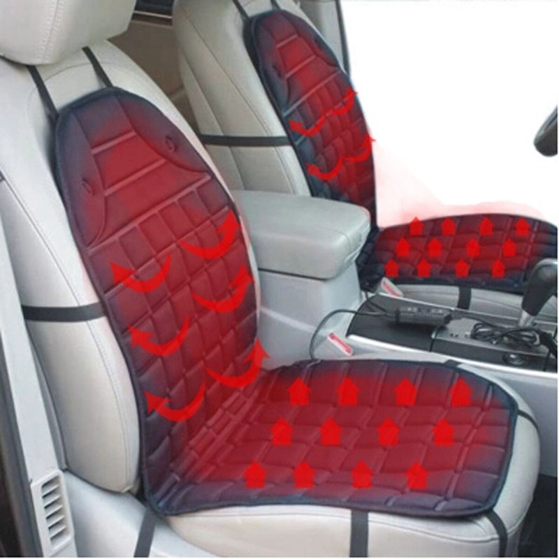 Polyester surface material heated seat cushion for your car with temperature seen