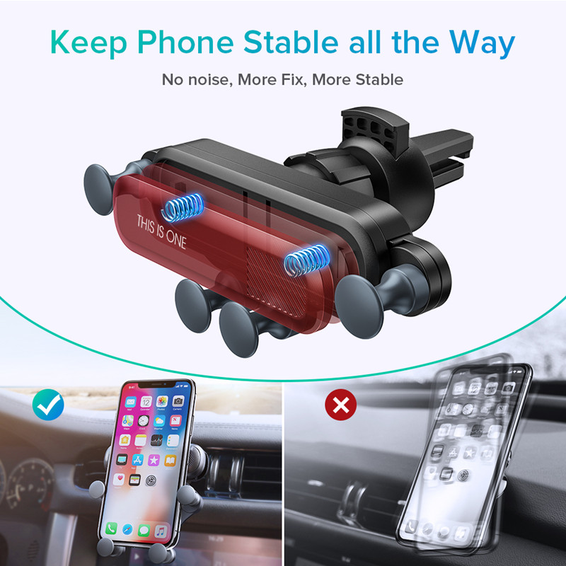 holder for mobile phone in car with more stability