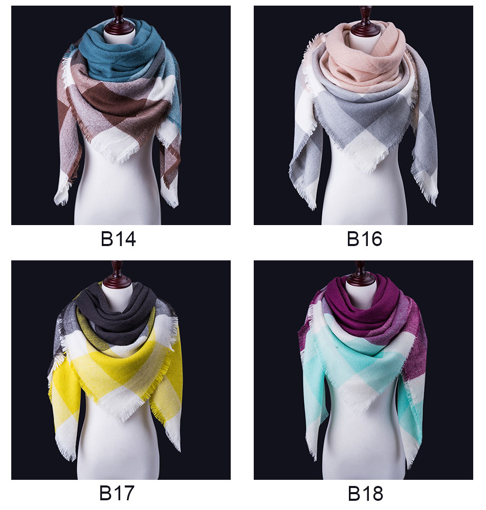 women winter scarf different styles