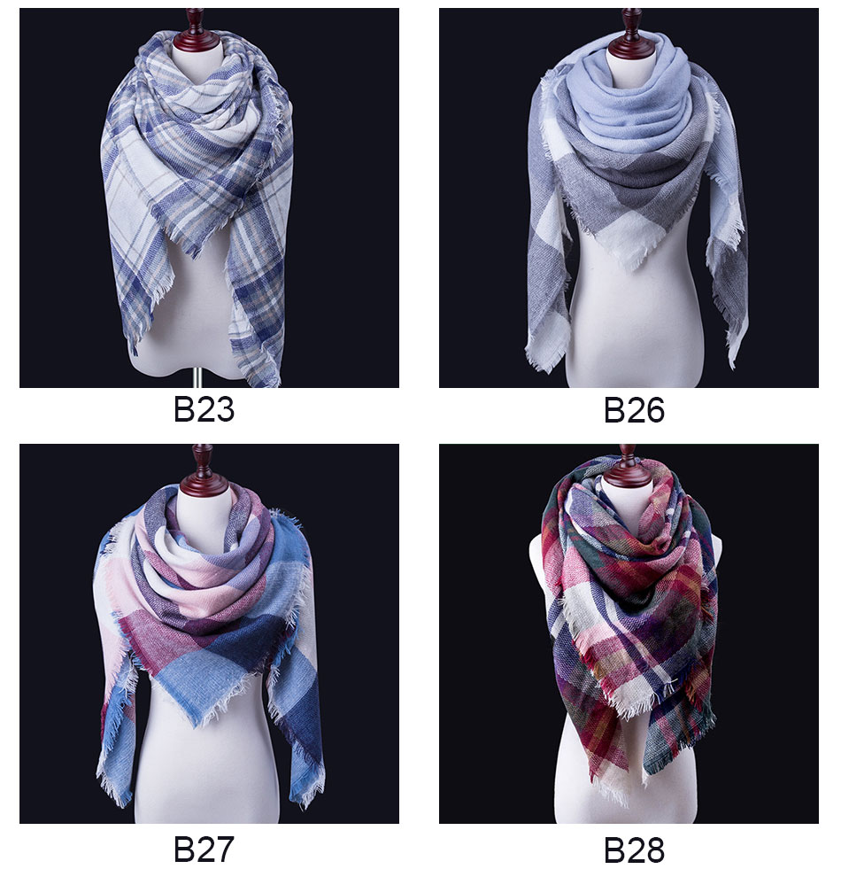 women's winter head scarf and shawl