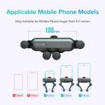 INIU Gravity Car Holder For Phone in Car Air Vent Clip Mount No Magnetic Mobile Phone Holder GPS Stand For iPhone XS MAX Xiaomi 5