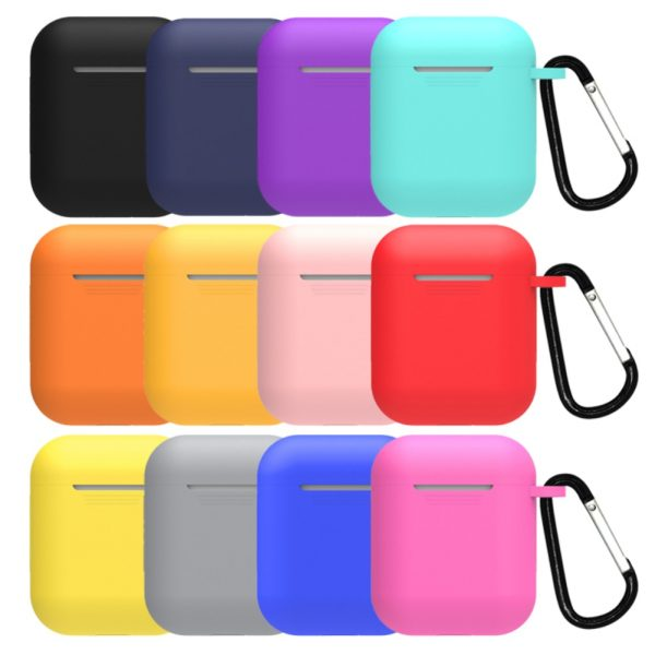 Mini Soft Silicone Case For Apple Airpods Shockproof Cover For Apple AirPods Earphone Cases for Air Pods Protector Case