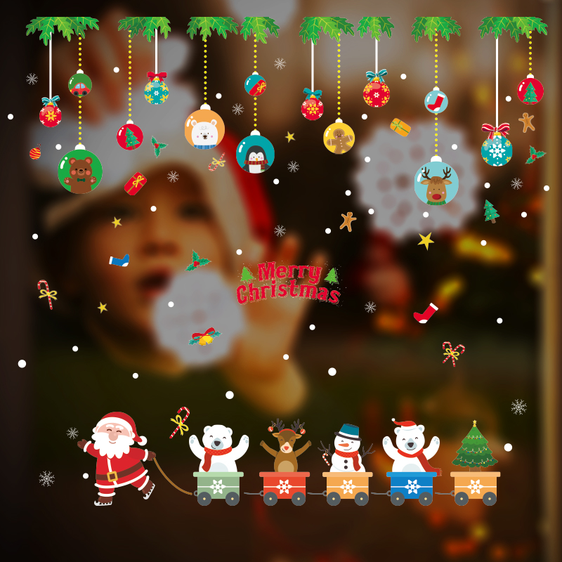 merry christmas wall stickers for windows