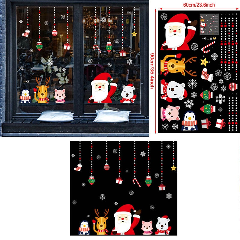 christmas decoration with stickers
