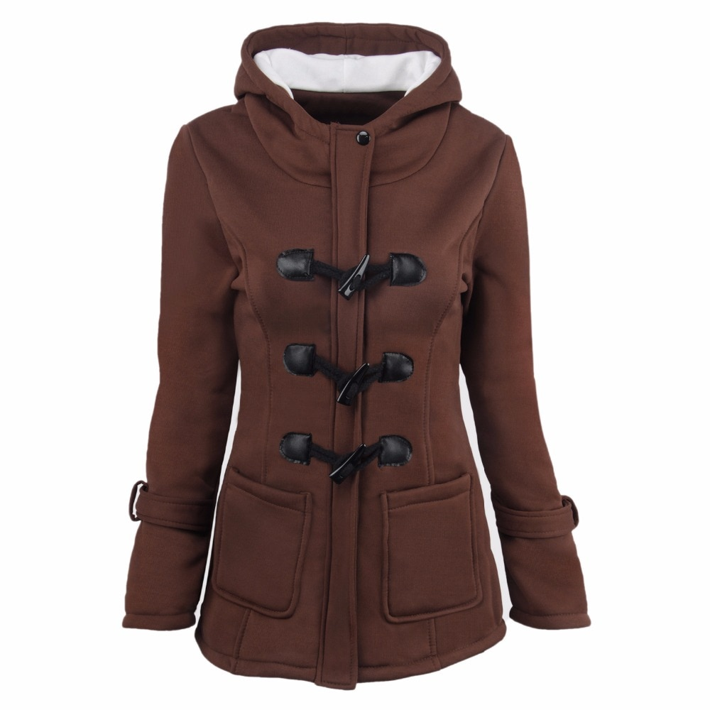 womens parkas with hood brown with any size