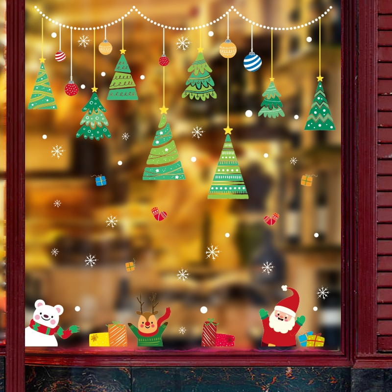 christmas stickers for windows christmas window stickers