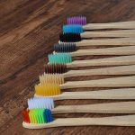 New design mixed color bamboo toothbrush Eco Friendly wooden Tooth Brush Soft bristle Tip Charcoal adults oral care toothbrush 1