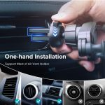 INIU Gravity Car Holder For Phone in Car Air Vent Clip Mount No Magnetic Mobile Phone Holder GPS Stand For iPhone XS MAX Xiaomi 1