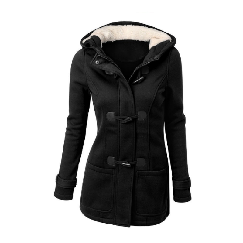 women's down parkas with hoods black