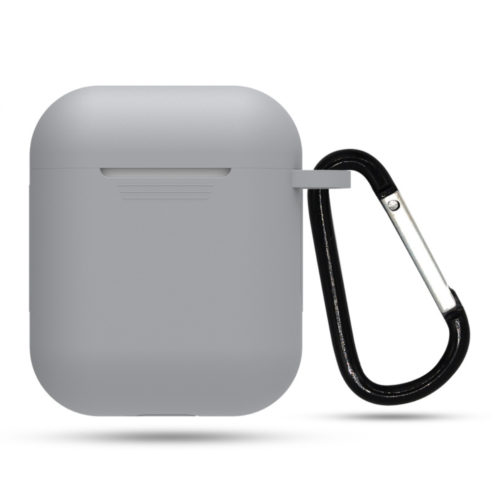 Soft Silicone Case for Apple Airpods off white