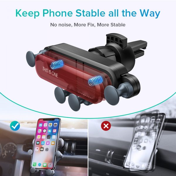 INIU Gravity Car Holder For Phone in Car Air Vent Clip Mount No Magnetic Mobile Phone Holder GPS Stand For iPhone XS MAX Xiaomi 2