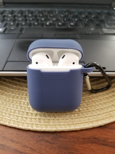 cover airpods case with keychain