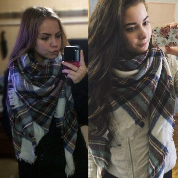Women Winter Scarf For Women cashmere Scarf and Shawl Women's Blanket Scarf Warm Shawl Support Wholesale and Retail 4