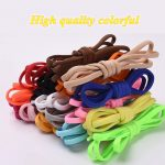 1Pair No tie Shoelaces Round Elastic Shoe Laces For Kids and Adult Sneakers Shoelace Quick Lazy Laces 19 Color Shoestrings 5