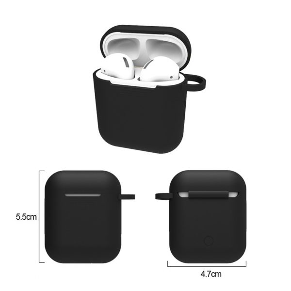Mini Soft Silicone Case For Apple Airpods Shockproof Cover For Apple AirPods Earphone Cases for Air Pods Protector Case 2