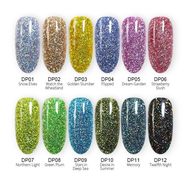 12 color - Dipping Nails Powders
