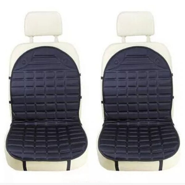 Polyester surface material heated seat cushion for your car double seat black