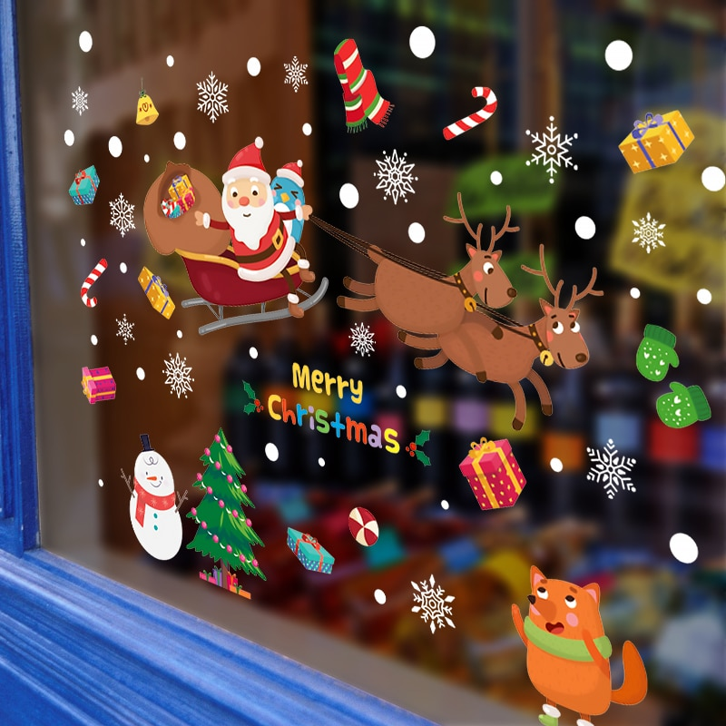 christmas wall stickers home