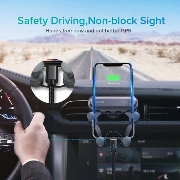 INIU Gravity Car Holder For Phone in Car Air Vent Clip Mount No Magnetic Mobile Phone Holder GPS Stand For iPhone XS MAX Xiaomi 4