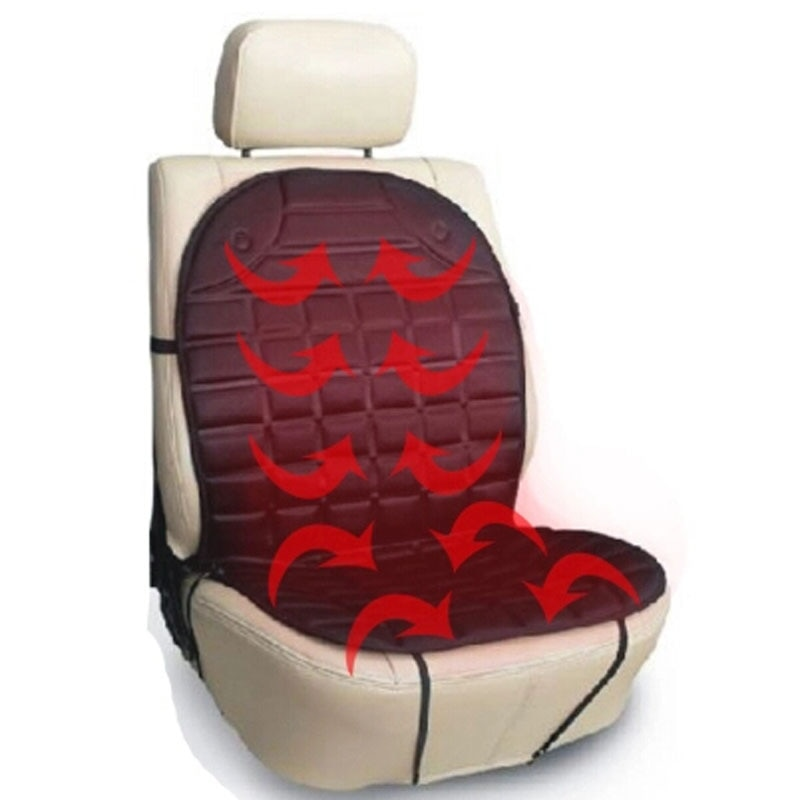 heated car single seat cushion with lumbar support