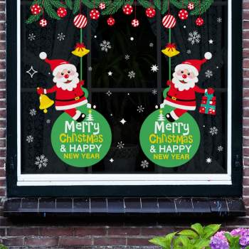 christmas window decor stickers at home